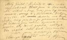 Alois Jirásek - rukopis, podpis - korespondenční lístek