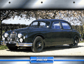 Reklama na automobil Jaguar Mark 1 3.4